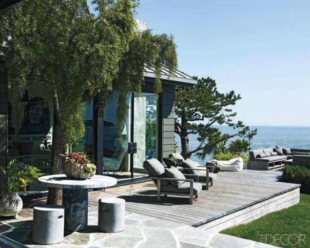 Courteney Cox Malibu Home Decor Outdoor Space Patio