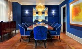Dazzling Blue Dining Room Decor