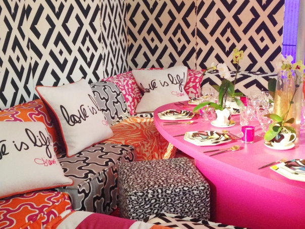 Diane von Furstenberg for Kravet DIFFA Dining by Design Architectural Digest Home Design Show 2014