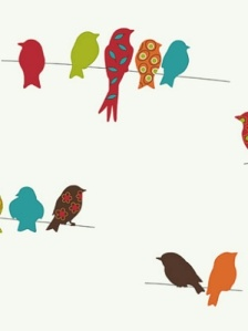 York Wallpaper - Bird on a Wire - KB8540