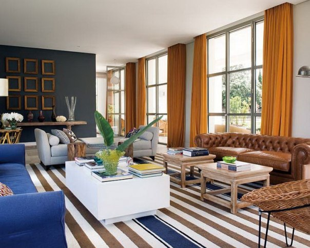 Stripe Rug in Modern Living Room How to Choose Rug Size