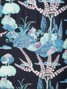 Beacon Hill Fabric - Moon Blossom - Midnight
