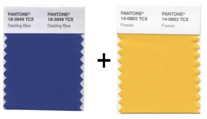 Pantone Dazzling Blue and Freesia Spring 2014 Colors