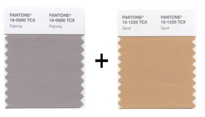 Pantone Spring 2014 Colors Sand and Paloma