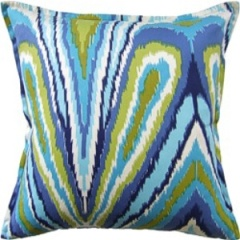Ryan Studio Pillow - Peacock Print - Pool