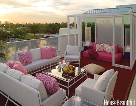 Pink Patio Outdoor Decor
