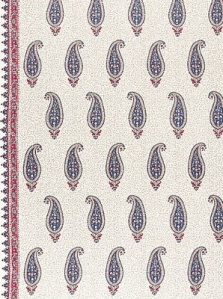 Schumacher Fabric - Llndienne - Rouge/Prussian Blue 175511