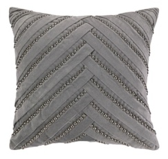 Peking Handicraft Pillow - Pleat Grey