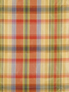Scalamandre Fabric - Reveur Plaid - Coral and Blue 36188-001