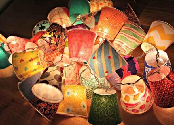 Mini DIY Fabric Lamps Outdoor Decor Ideas