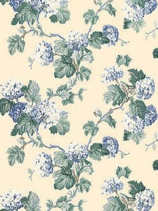 Schumacher Wallpaper - Viburnum - Periwinkle 5004372