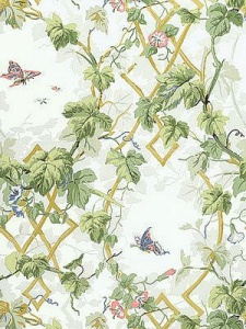 Schumacher Wallpaper - Leafy Arbor - Sky 5004491