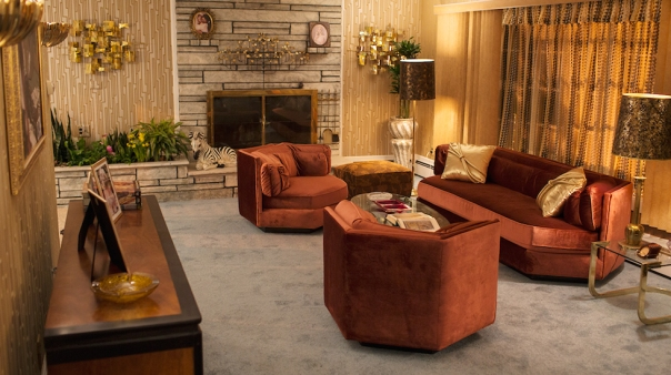 American Hustle Decor Interiors on the Set 70s Brutalism Living Room