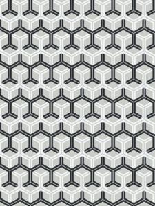 Cole & Son Wallpaper - Honeycomb - Black & White 93_15050_CS