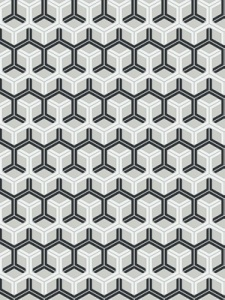 Cole & Son Wallpaper - Honeycomb - Black & White 93_15050_CS