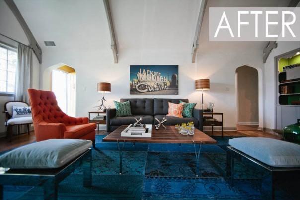 American Dream Builders Team Blue Makeover Interior Decorating Designers NBC Nate Berkus