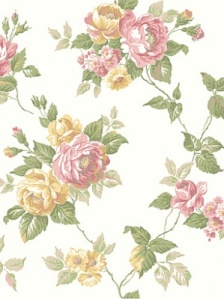 York Wallpaper - Garden Rose Trail - AK7494