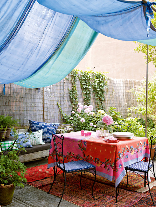 DIY canopy outdoor decorating ideas