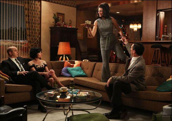 don living room mad men set decor amc