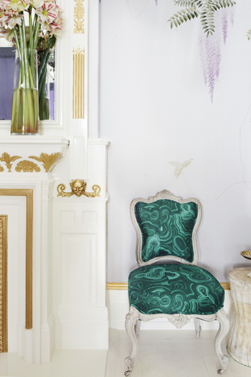Malachite Pattern Chair Interior Decor