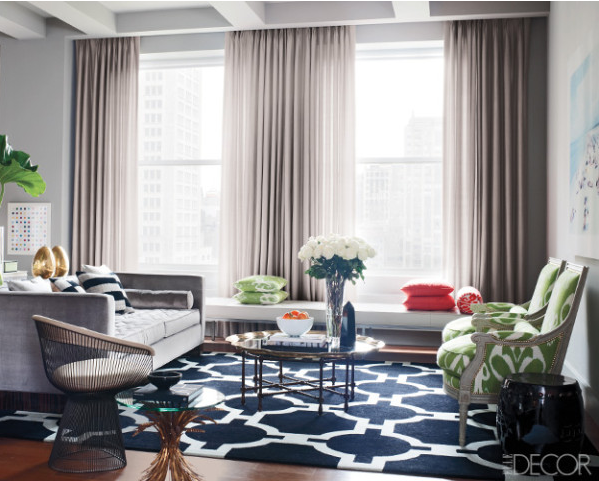How to decorate with geometrics living room interior ideas