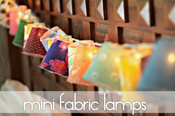 mini DIY fabric lamps
