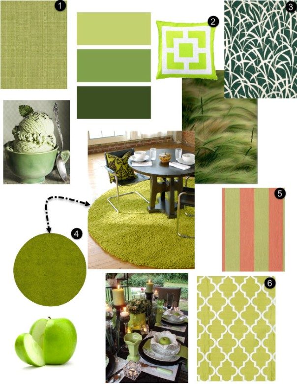 Green Grass Apple Interior Decor Spring 2014 Trends