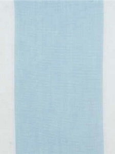 Groundworks Fabric - Moremi Sheer - Aqua/Cream