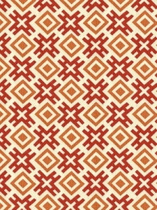 Groundworks Fabric - Hicksonian - Berry/Clay GWF-3318_724_0