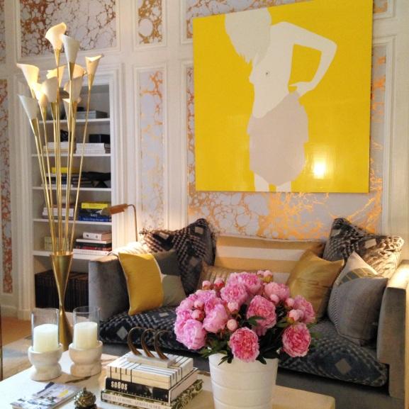 Kips Bay 2014 Decorator Show House NYC Carrier & Company Gold Metallic Interior Decor