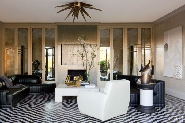 brutalist interior decor living room hollywood regency
