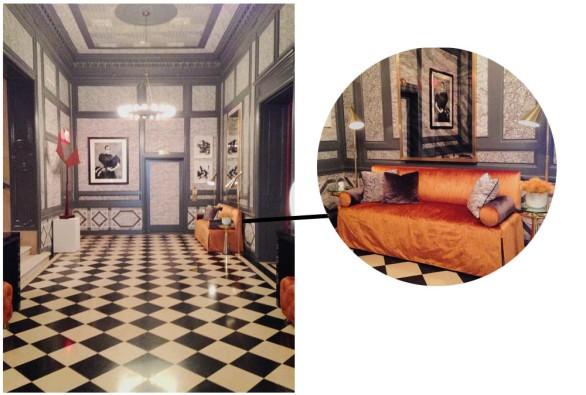 Kips Bay Decorator Show House 2014 NYC Martyn Lawrence Bullard Marble Wallpaper