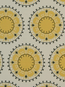 Robert Allen@Home Fabric - Medallion Band - Citrine
