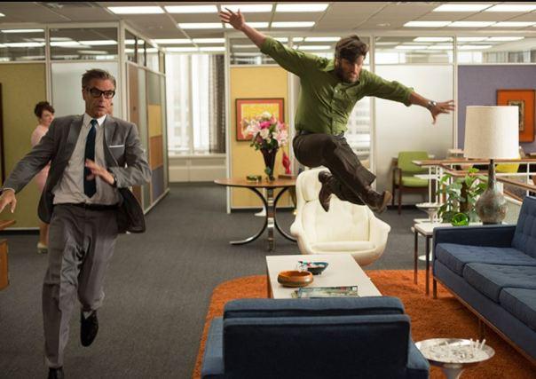 60s inspired mad men decor midcentury modern interiors amc SC&P office