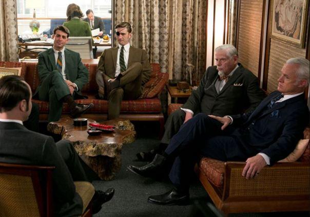 set of mad men office interior decor amc don draper