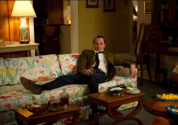 pete campbell living room on set of mad men decor
