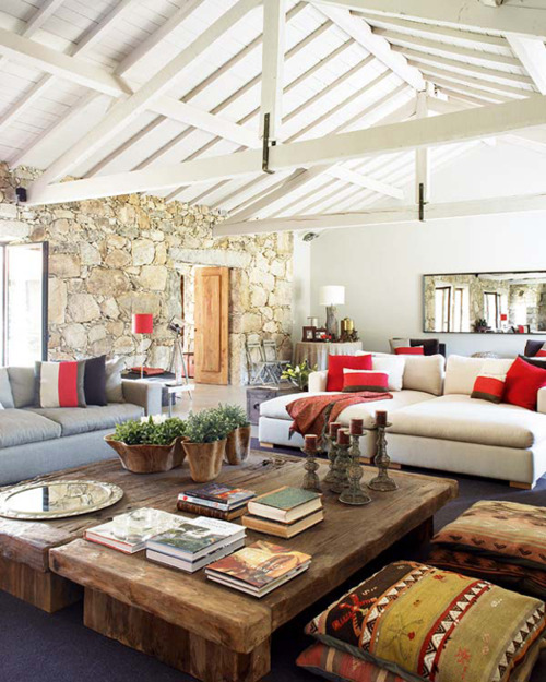 Stone Wall Interior Decor Outdoor Meets In