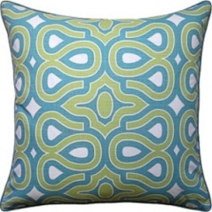 Ryan Studio Pillow - Turtle Shell - Turquoise