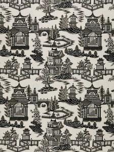 Schumacher Fabric - Nanjing - Smoke 174433