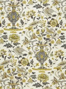 Schumacher Fabric - Camberwell Vase Print - Citrine 174550
