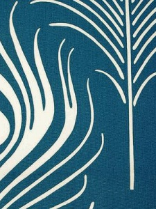 duralee fabrics interior decor design peacock feathers birds design home fabric trends blue white