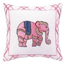 Peking Handicraft Pillow - Pink Elephant 24CC17C18SQ