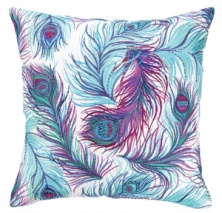 Nanette Lepore Pillow - Feather w/ Beads 24NL08C20SQ