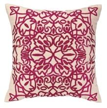Nanette Lepore Pillow - Lace Embroidered - Fuschia 24NL31EC20SQ