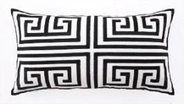 Peking Handicraft Pillow - Greek Key - Black 24TT40FC26OB