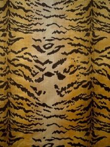 Scalamandre Fabric - Tigre - Ivory, Gold & Black 26167M-001