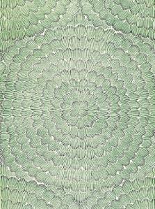 Schumacher Wallpaper - Feather Bloom - Emerald & Ore 5006072