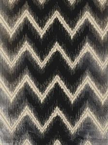 Schumacher Fabric- Shock Wave - Platinum & Jet 54860