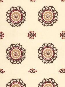 Schumacher Fabric - Konya Suzani - Bark Cinnabar 62670
