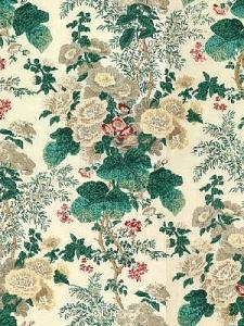 Lee Jofa Fabric - Hollyhock - White/Brown - 7135_LJ_0